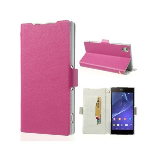Diplomat Pinkki Sony Xperia Z2 Aito Nahkakotelo