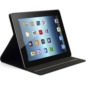 Doormoon Smart Folio Nahkakotelo iPad 2 iPad 3 iPad 4 Musta