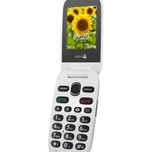 Doro 6031 Senioripuhelin Simpukkamalli Harmaa / Valkoinen
