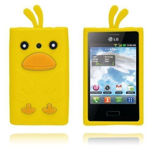 Duck Keltainen Lg Optimus L3 3d Suojakuori