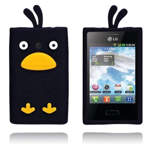 Duck Musta Lg Optimus L3 3d Suojakuori