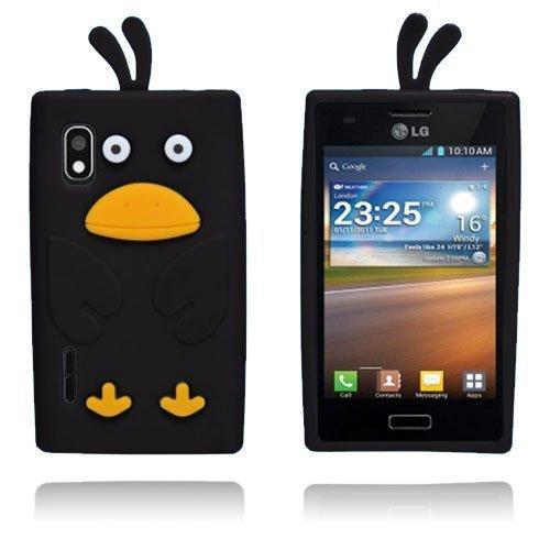 Duck Musta Lg Optimus L5 3d Suojakuori