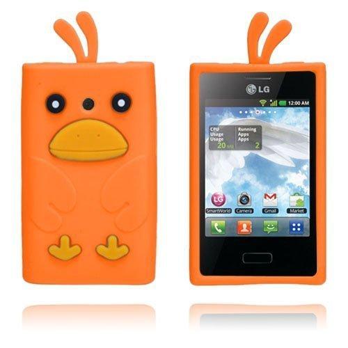 Duck Oranssi Lg Optimus L3 3d Suojakuori