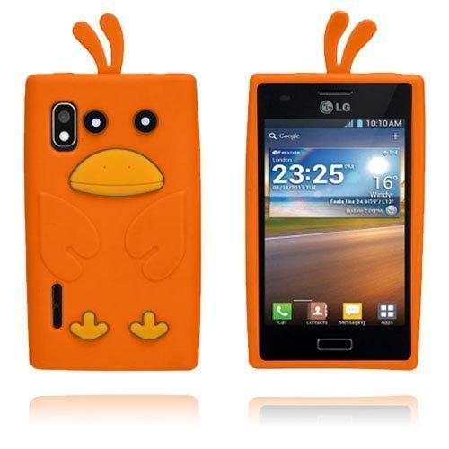 Duck Oranssi Lg Optimus L5 3d Suojakuori
