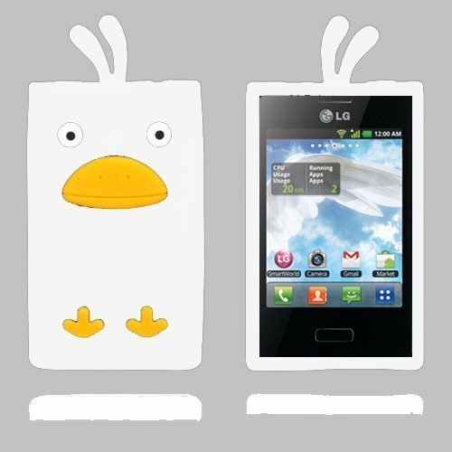Duck Valkoinen Lg Optimus L3 3d Suojakuori