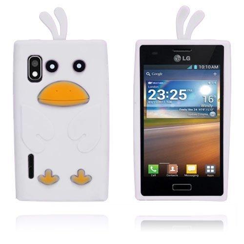 Duck Valkoinen Lg Optimus L5 3d Suojakuori