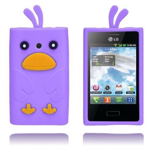 Duck Violetti Lg Optimus L3 3d Suojakuori