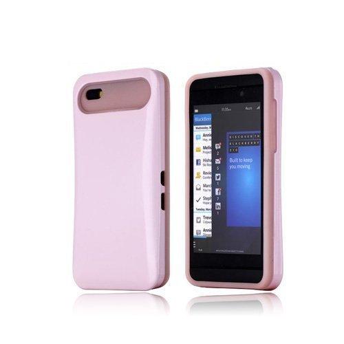 Duo-Safe Vaaleanpunainen Blackberry Z10 Suojakuori