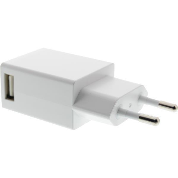 EPZI Seinälaturi 100-240V 5V USB 1A 1xUSB-port valkoinen