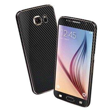 EasySkinz 3D Kuvioitu Hiilikuitukuori Samsung Galaxy S6 Musta