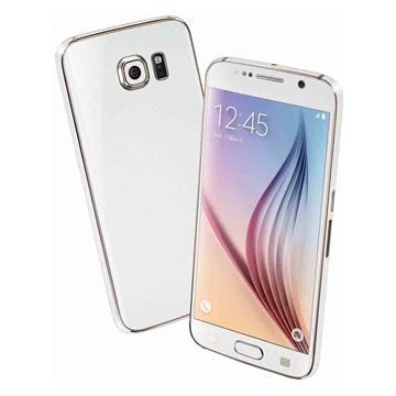 EasySkinz 3D Kuvioitu Hiilikuitukuori Samsung Galaxy S6 Valkoinen