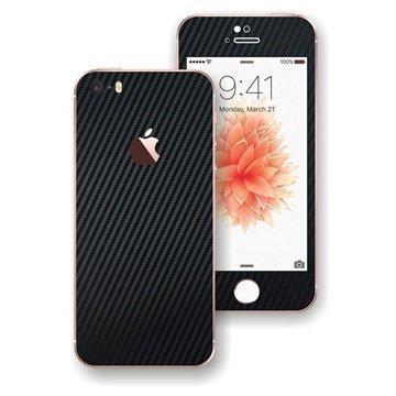 EasySkinz 3D Kuvioitu Hiilikuitukuori iPhone SE Musta