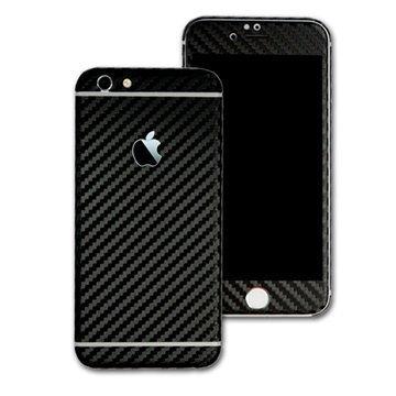 EasySkinz 3D Kuvioitu hiilikuitukuori iPhone 6S Musta