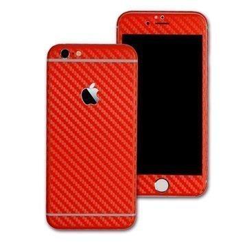 EasySkinz 3D Kuvioitu hiilikuitukuori iPhone 6S Punainen