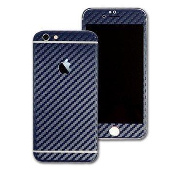 EasySkinz 3D Kuvioitu hiilikuitukuori iPhone 6S Tummansininen