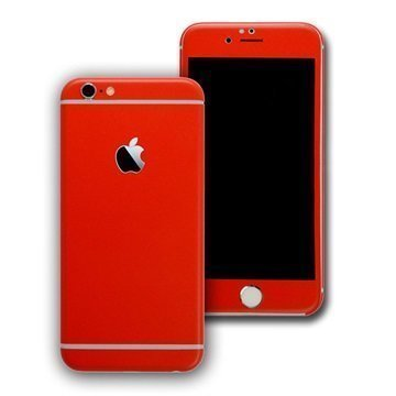 EasySkinz mattapintainen suojakuori iPhone 6S Punainen