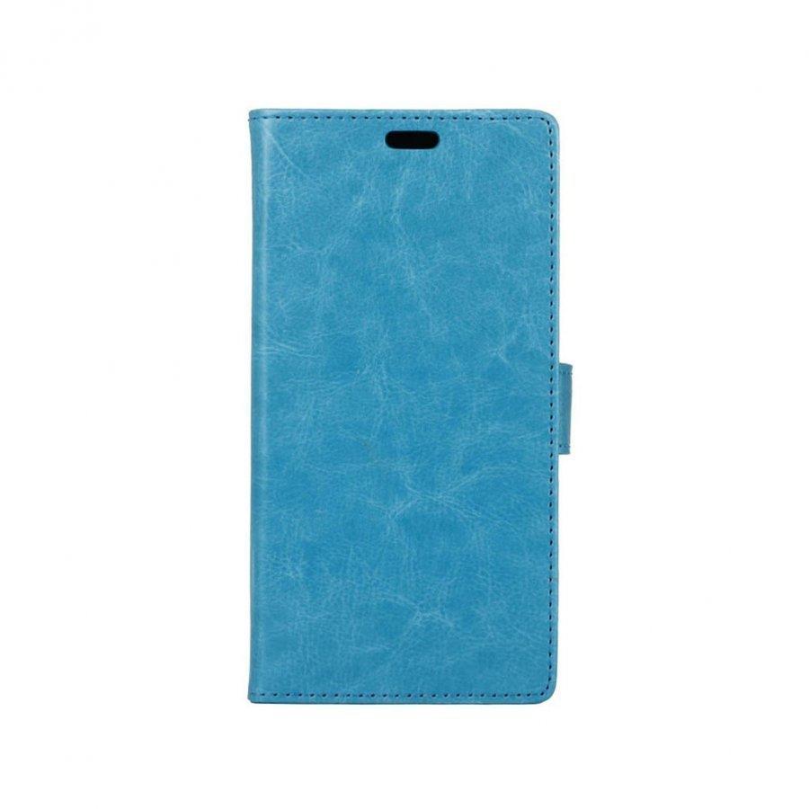 Edwardson Alcatel Pixi 4 5 Joustava Nahkakotelo Lompakko Sininen