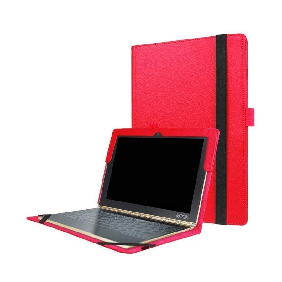 Edwardson Lenovo Yoga Book Nahkakotelo Läpällä Punainen