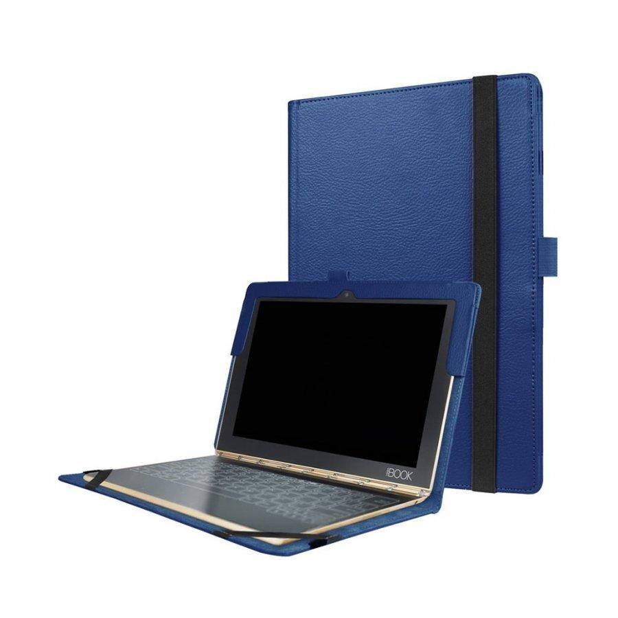 Edwardson Lenovo Yoga Book Nahkakotelo Läpällä Tummansininen