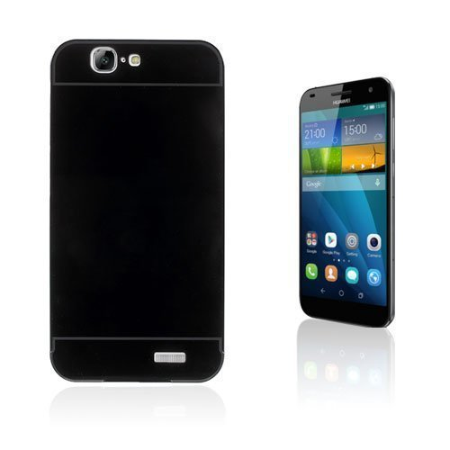 Egeland Huawei Ascend G7 Metalli Suojus Musta