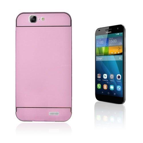 Egeland Huawei Ascend G7 Metalli Suojus Pinkki