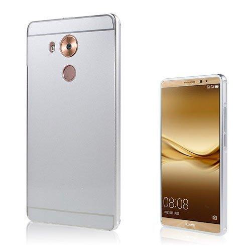Egeland Huawei Mate 8 Alumiini Seos Kuori Hopea