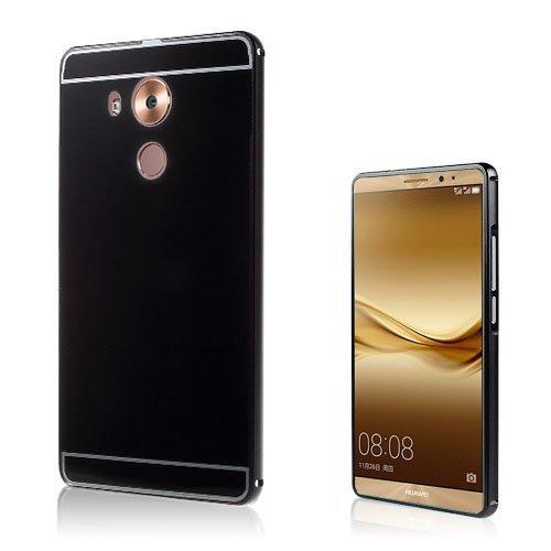 Egeland Huawei Mate 8 Alumiini Seos Kuori Musta