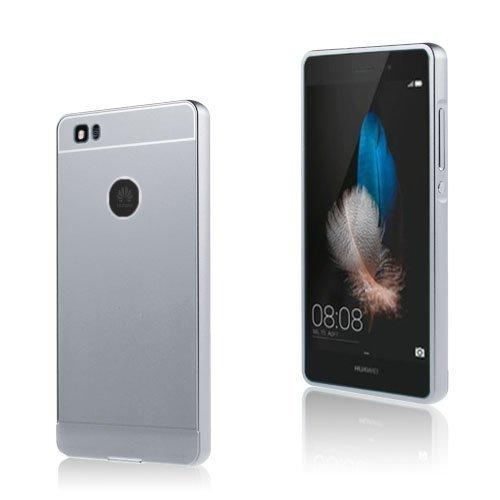 Egeland Huawei P8 Lite Metalli Suojus Muovi Kuorella Hopea