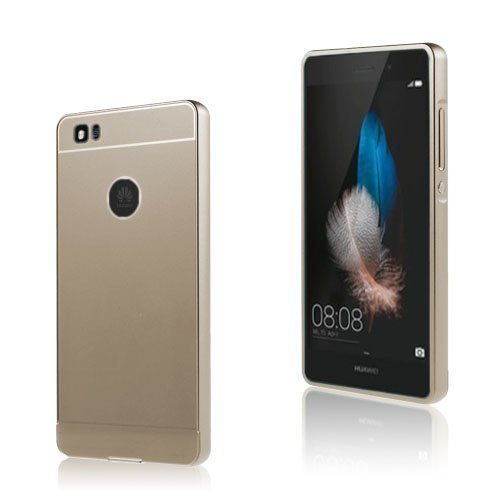 Egeland Huawei P8 Lite Metalli Suojus Muovi Kuorella Kulta