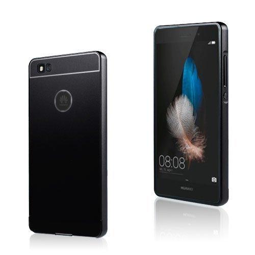 Egeland Huawei P8 Lite Metalli Suojus Muovi Kuorella Musta