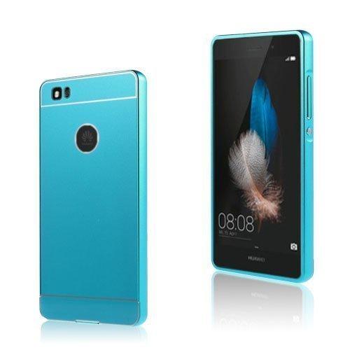 Egeland Huawei P8 Lite Metalli Suojus Muovi Kuorella Sininen
