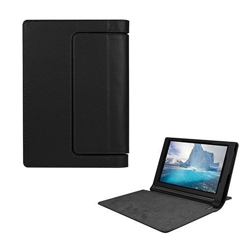 Egner Lenovo Yoga Tab 3 8.0 Läppä Nahkakotelo Musta