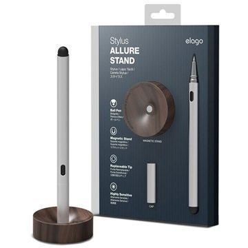 Elago Allure Stylus Osoitinkynä & Puinen Teline Saksanpähkinä