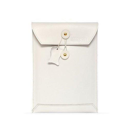 Envelope Valkoinen Ipad Mini Aito Nahkatasku