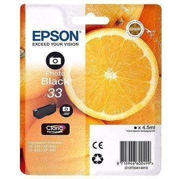 Epson 33 Mustepatruuna C13T33414010 Valokuva Musta