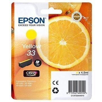 Epson 33 Mustepatruuna C13T33444010 Keltainen