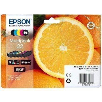 Epson 33 Mustepatruunapaketti C13T33374010 5 Väriä