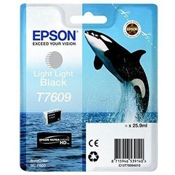 Epson T7609 Mustepatruuna C13T76094010 Erittäin Vaalea Musta