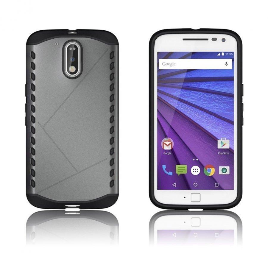 Erik Motorola Moto G4 / G4 Plus Suojaava Hybridi Kuori Harmaa