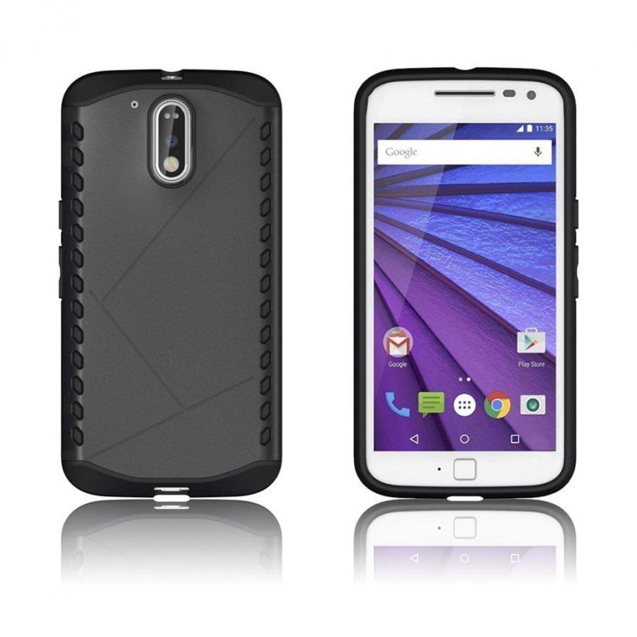 Erik Motorola Moto G4 / G4 Plus Suojaava Hybridi Kuori Musta
