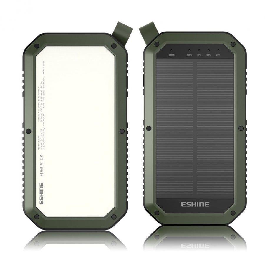 Eshine 8000mah 3 Usb Portin Varavirtalähde Ulkokäyttöön Armeijan Vihreä