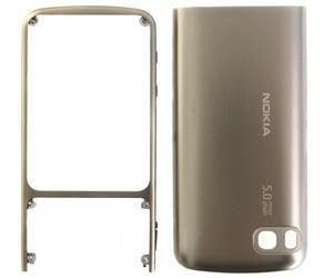 Etupaneeli + Akku kansi Nokia C3-01 gold khaki gold Alkuperäinen