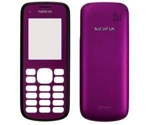 Etupaneeli + Akkukansi / Takakansi Nokia C1-02 dark plum