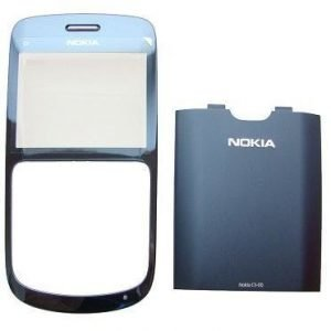 Etupaneeli + Akkukansi / Takakansi Nokia C3-00 slate