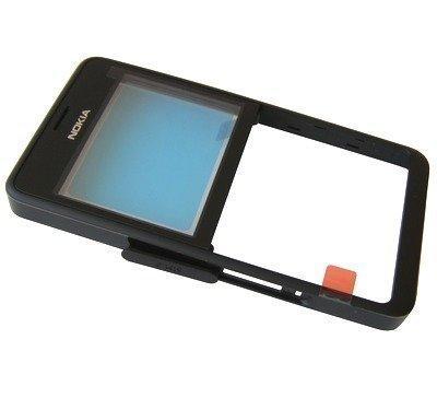 Etupaneeli Nokia 210 Asha Dual SIM musta