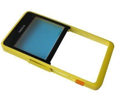 Etupaneeli Nokia 210 Asha Dual SIM yellow