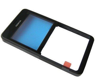 Etupaneeli Nokia 210 Asha musta