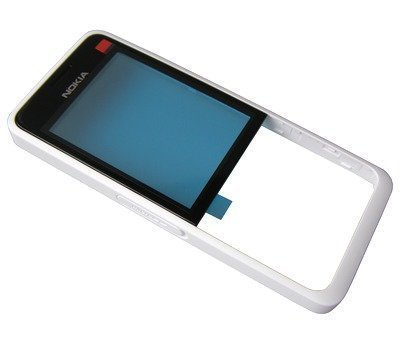 Etupaneeli Nokia 301 Dual SIM valkoinen