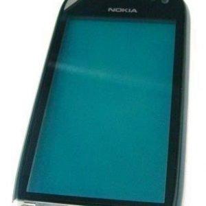 Etupaneeli Nokia 701 Dark Steel
