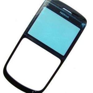 Etupaneeli Nokia C3-00 musta